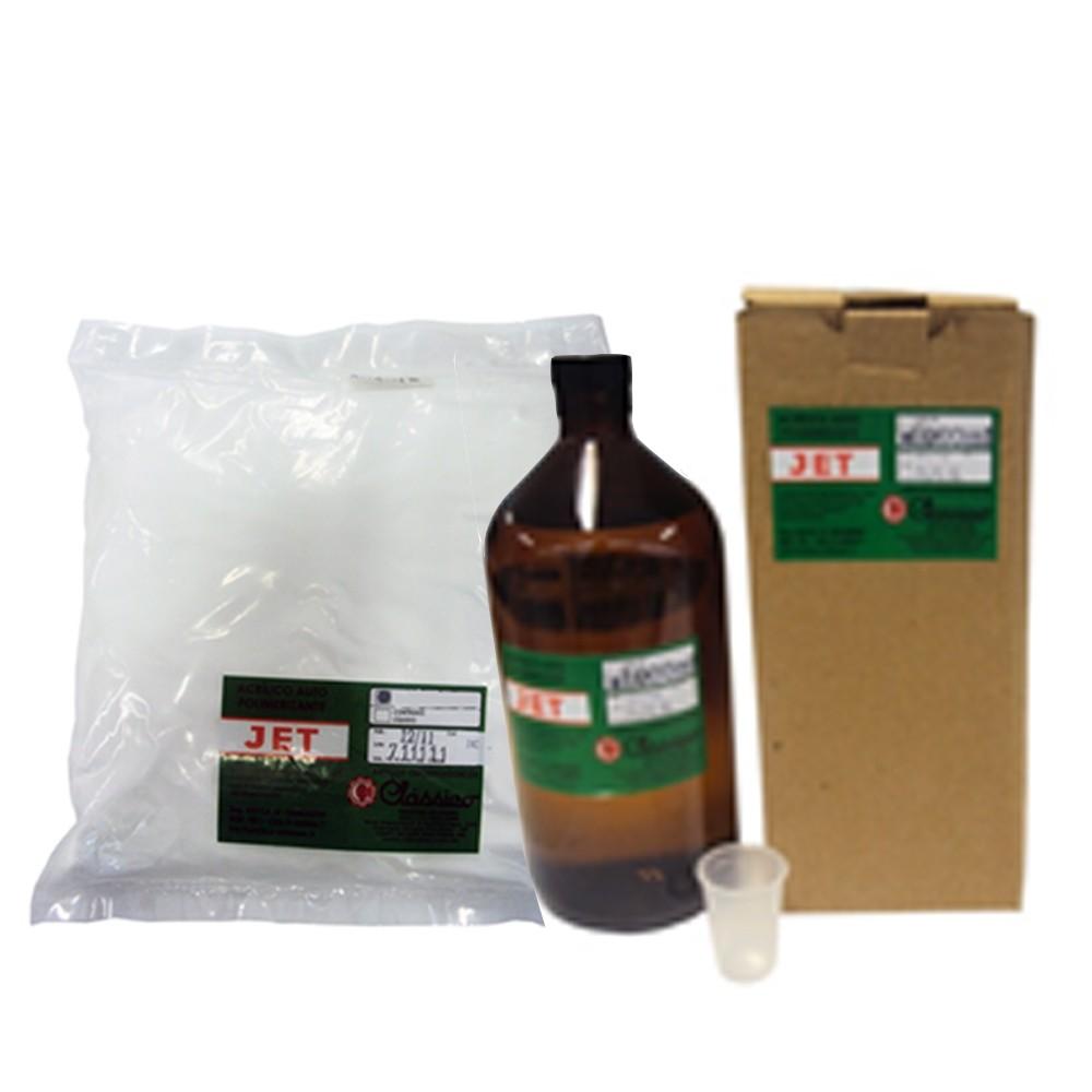 Resina Acrílica Autopolimerizável JET Incolor - Kit - 1L + 1KG