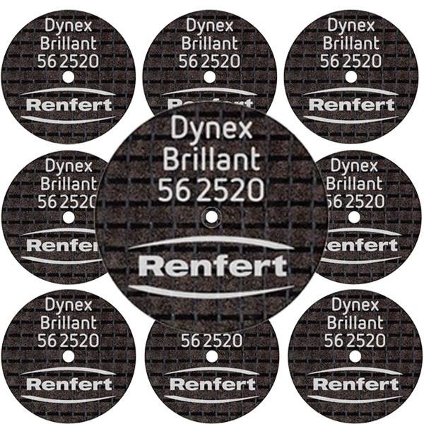 Disco de corte Renfert Dynex Brillant 0,25 x 20mm 10 unid - Ref 56-2520