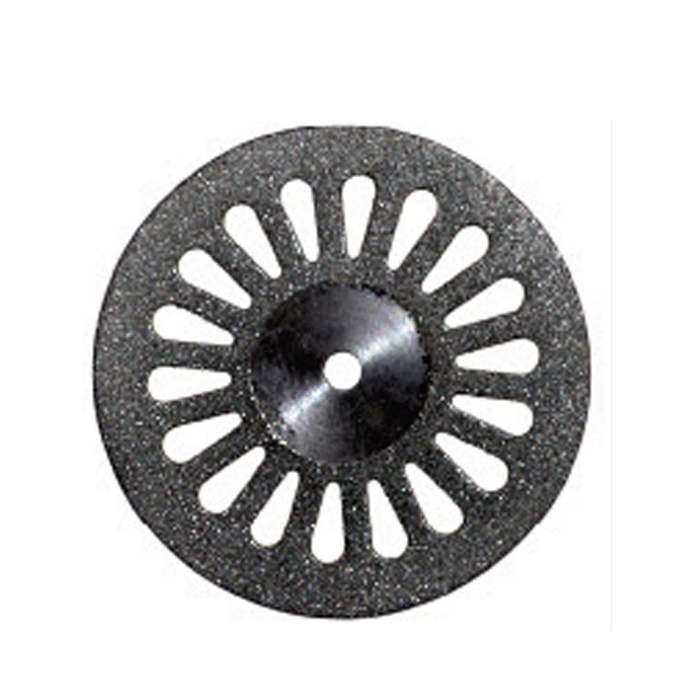 Disco Diamantado Dupla Face Canulado com Mandril - American Burrs - Ref. 7012