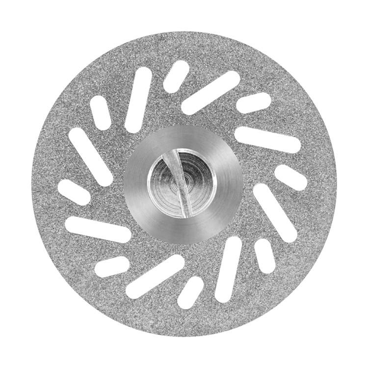 Disco diamantado dupla face total esfiral com mandril PM Ref 7013