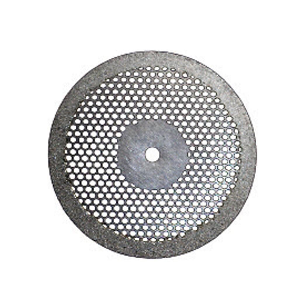 Disco Diamantado Dupla Face Ventilado com Mandril - American Burrs - Ref. 7014