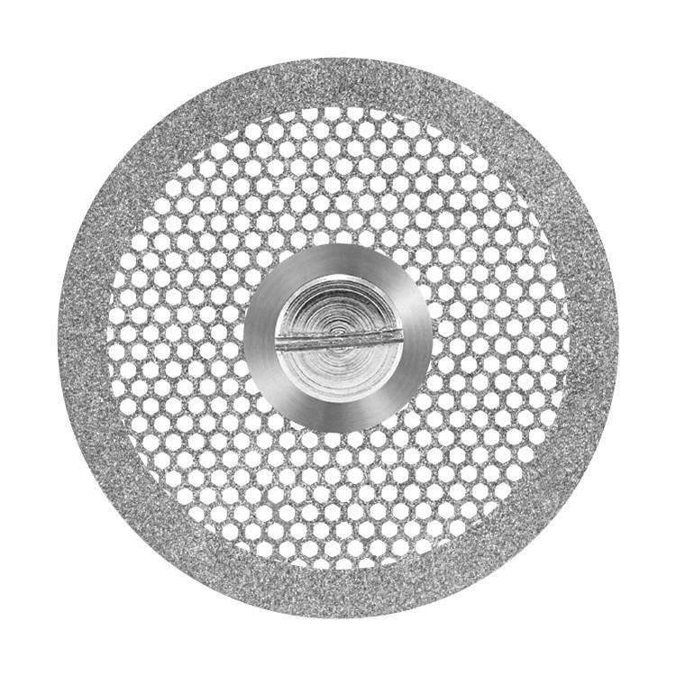 Disco diamantado dupla face ventilado com mandril PM Ref 7014