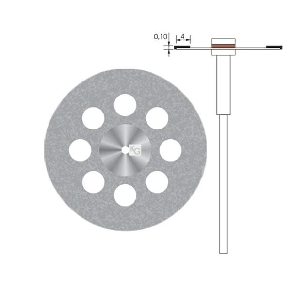 Disco Diamantado Dupla Face Furos Grande - KG Sorensen c/ Mandril - Ref 7015