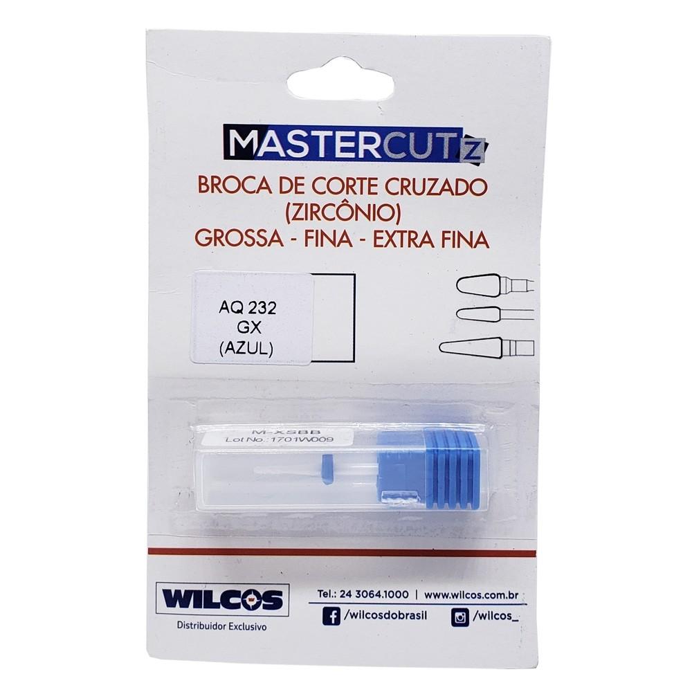 Broca Zircônia Corte Cruzado Fino Ref. AQ232 - azul