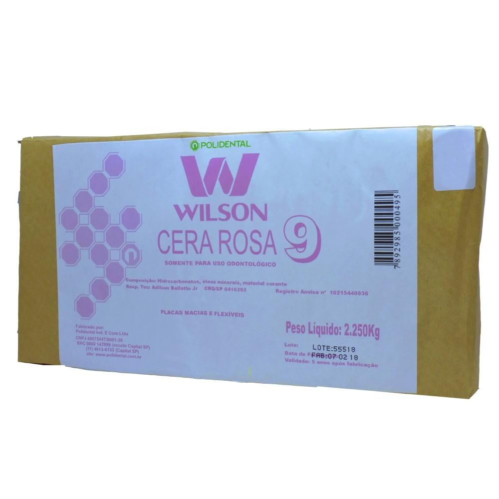 Cera 9 Wilson Rosa - Pacote Econômico - 2,250Kg - Polidental