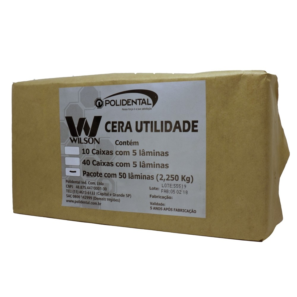 Cera Utilidade Wilson - Pacote Econômico - 2,250 Kg - Polidental