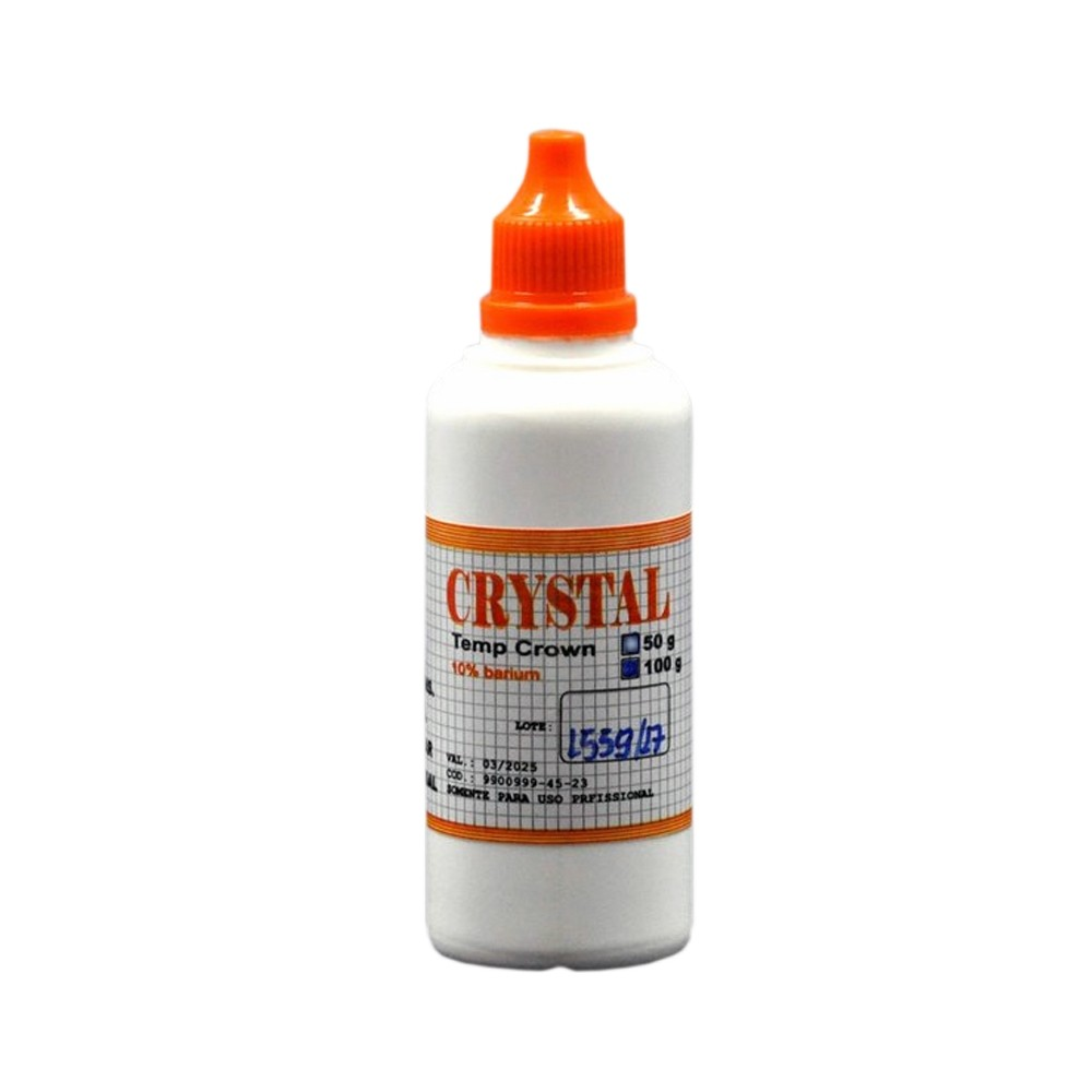 Resina Crystal para confecção de dentes provisórios 100g