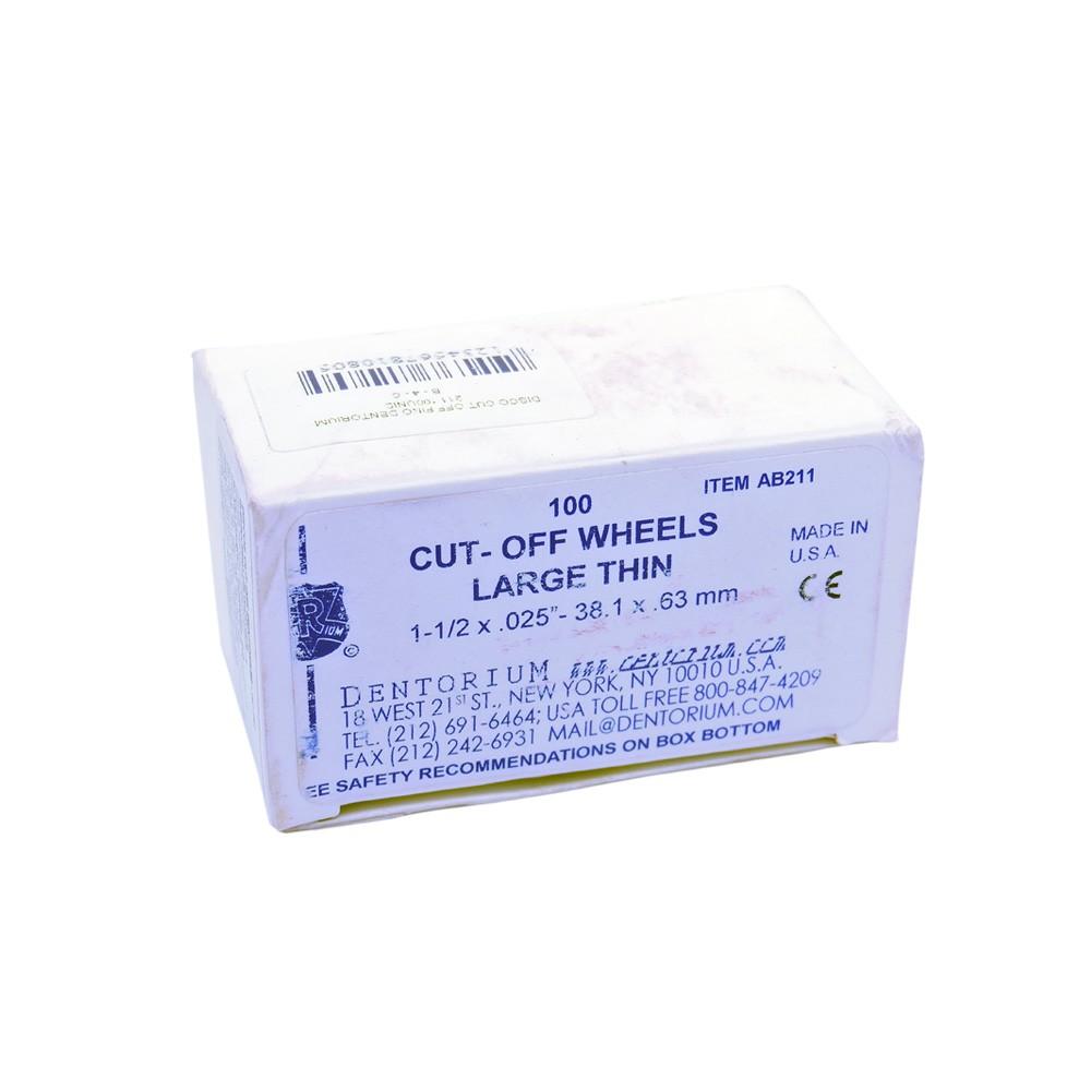 Disco Cut Off fino Dentorium Ref-211 - caixa 100 unid