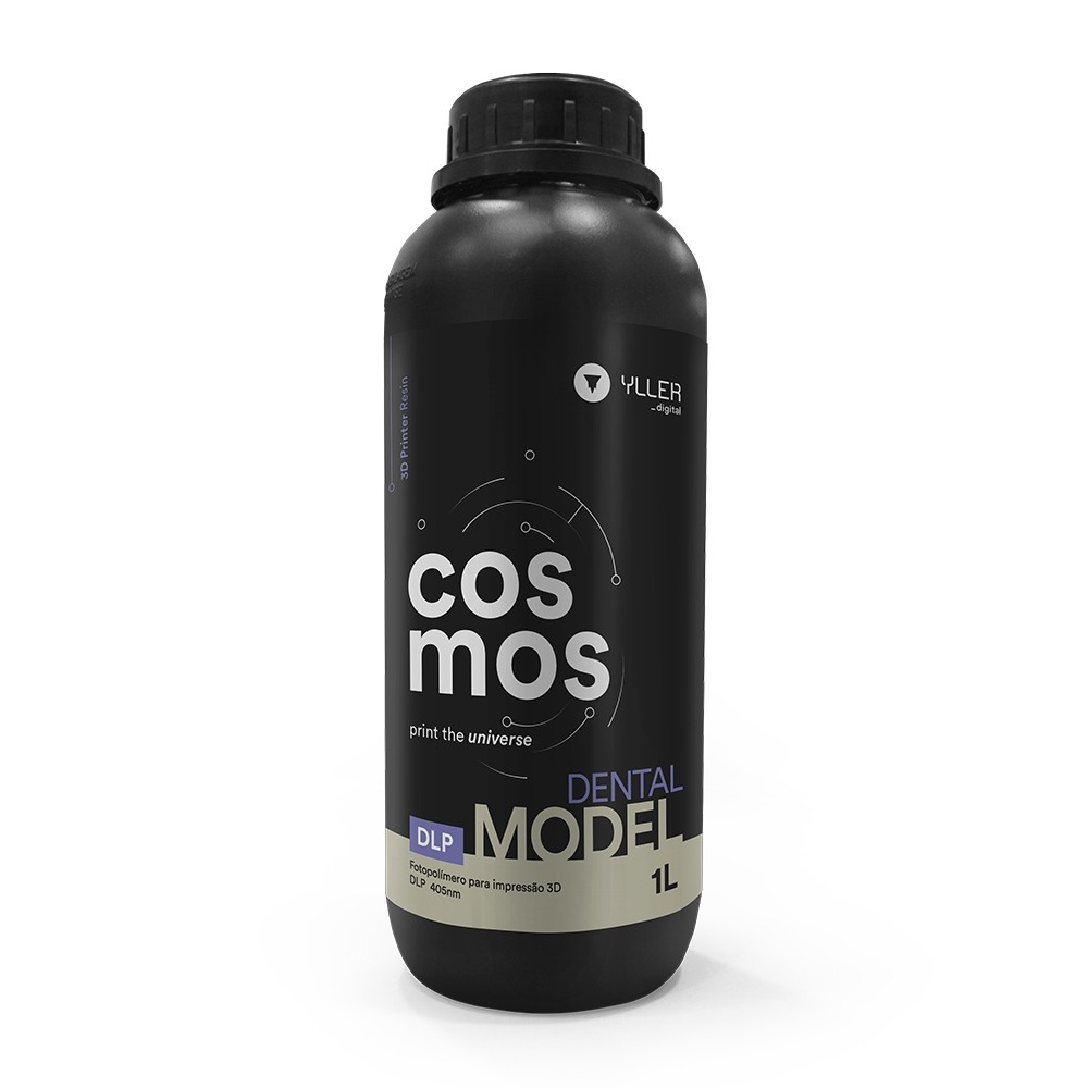 Resina Impressora 3D Cosmos DLP 1L DENTAL MODEL - para impressões de modelos de cor semelhante ao gesso