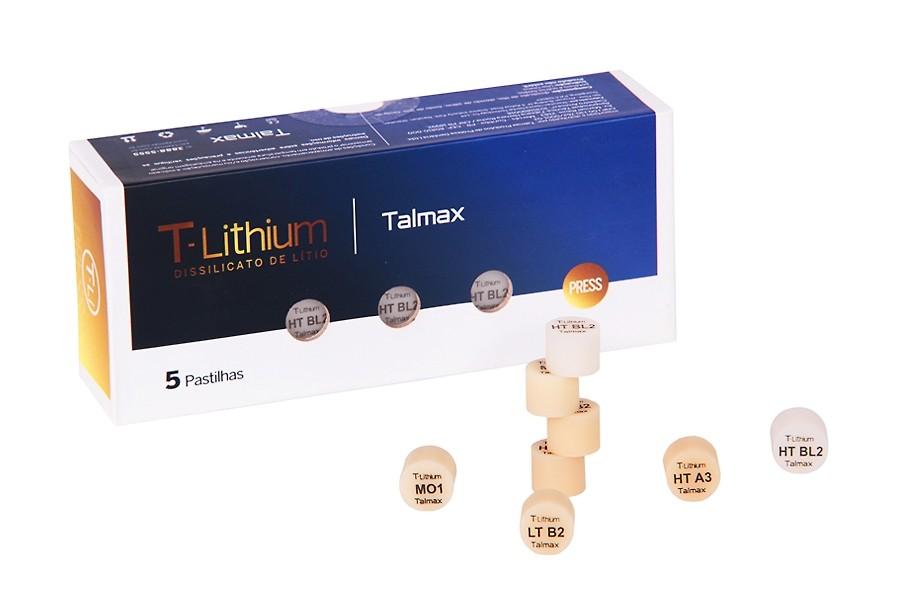 Pastilha T-Lithium Press Dissilicato de Lítio Talmax- caixa 5 unidades