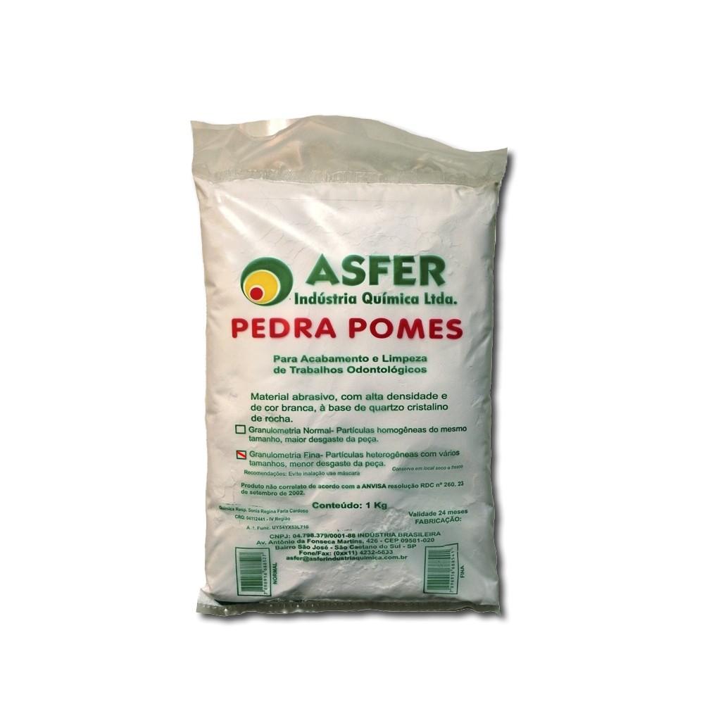 Pedra Pomes Fina Asfer 1Kg