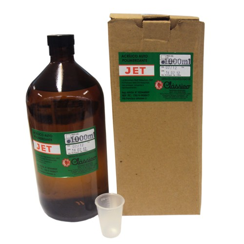 Resina Acrílica Autopolimerizável JET 1000mL - resina de rápida