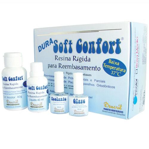 Resina Rígida para Reembasamento Dencril Soft Confort Dura