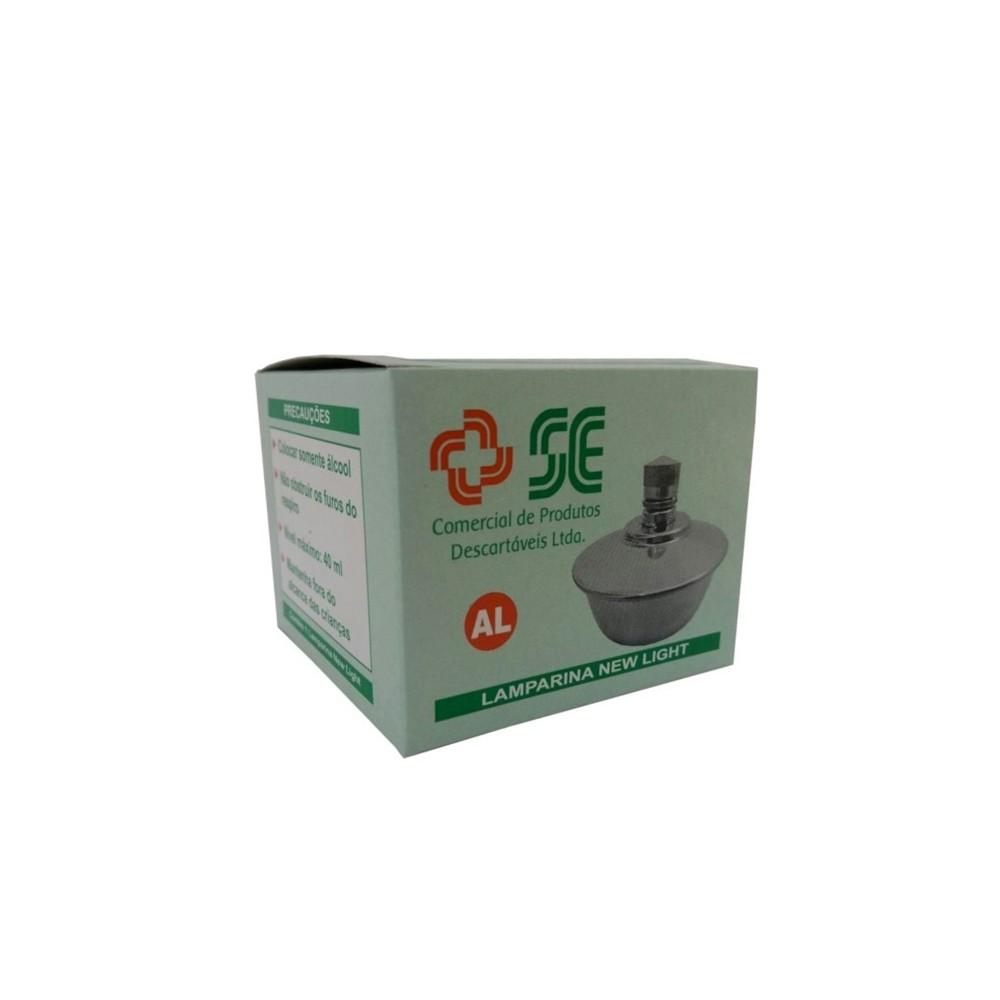 Lamparina Alumínio Simples 40ml - S.E