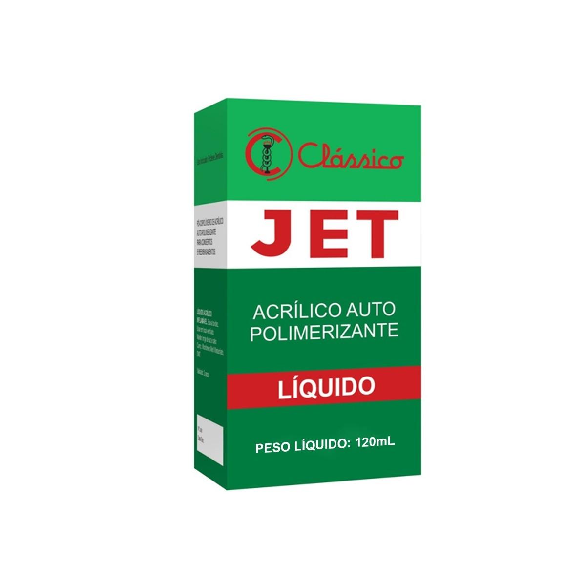 Resina Acrílica Autopolimerizável JET 120mL - resina de rápida