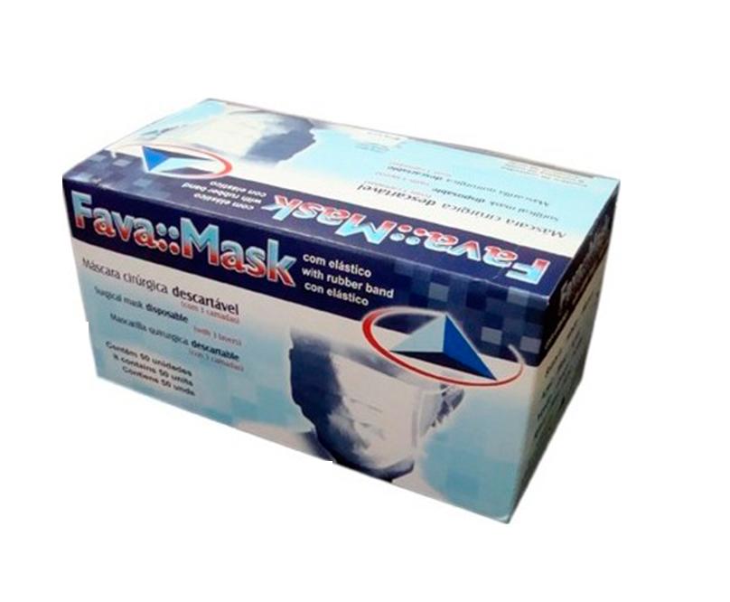 Máscara Elástico Fava - 50 unidades - Branco