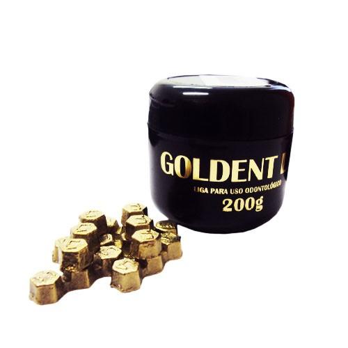 Metal Goldent Baixa Fusão CU AL 200g