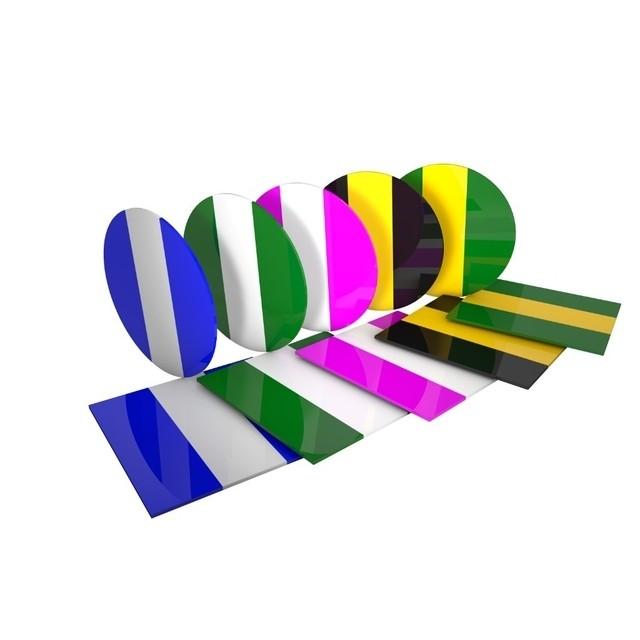 Placa Soft Bioart 3mm Bicolor Mista Quadrada- Embalagem com 5 unidades