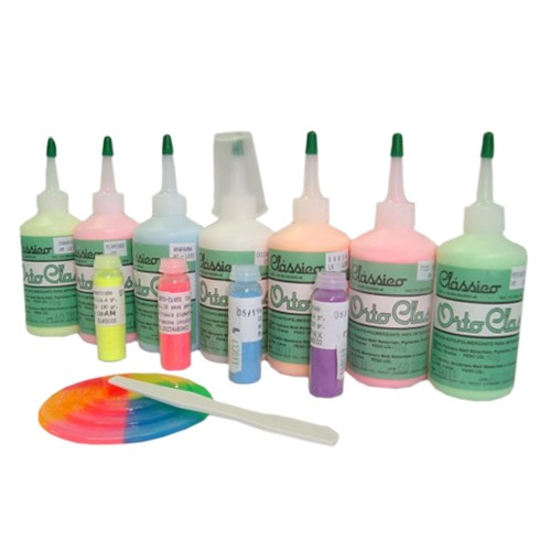 Resina Acrílica Autopolimerizável Orto Class Kit - 7 cores