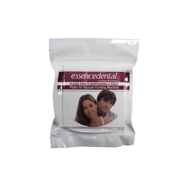 Placa Soft Essencedental (VH) 3mm Quadrada - protetor bucal - embalagem com 05 unidades