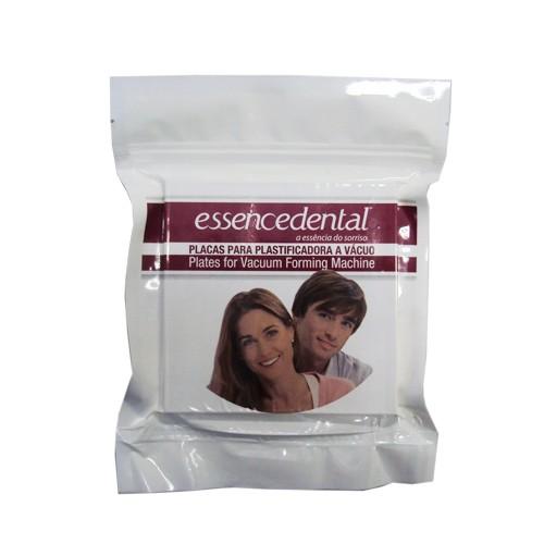 Placa Soft Essencedental (VH) 2mm Quadrada - moldeira para bruxismo - embalagem com 10 unidades