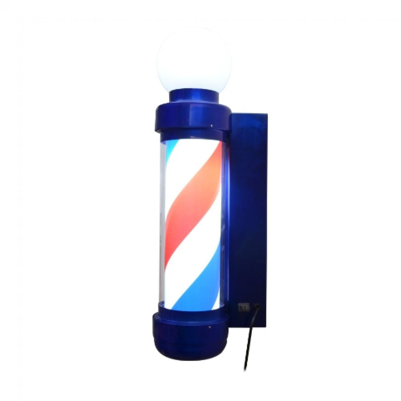 Pole Barber Giratório Led com Globlo Azul- Vh