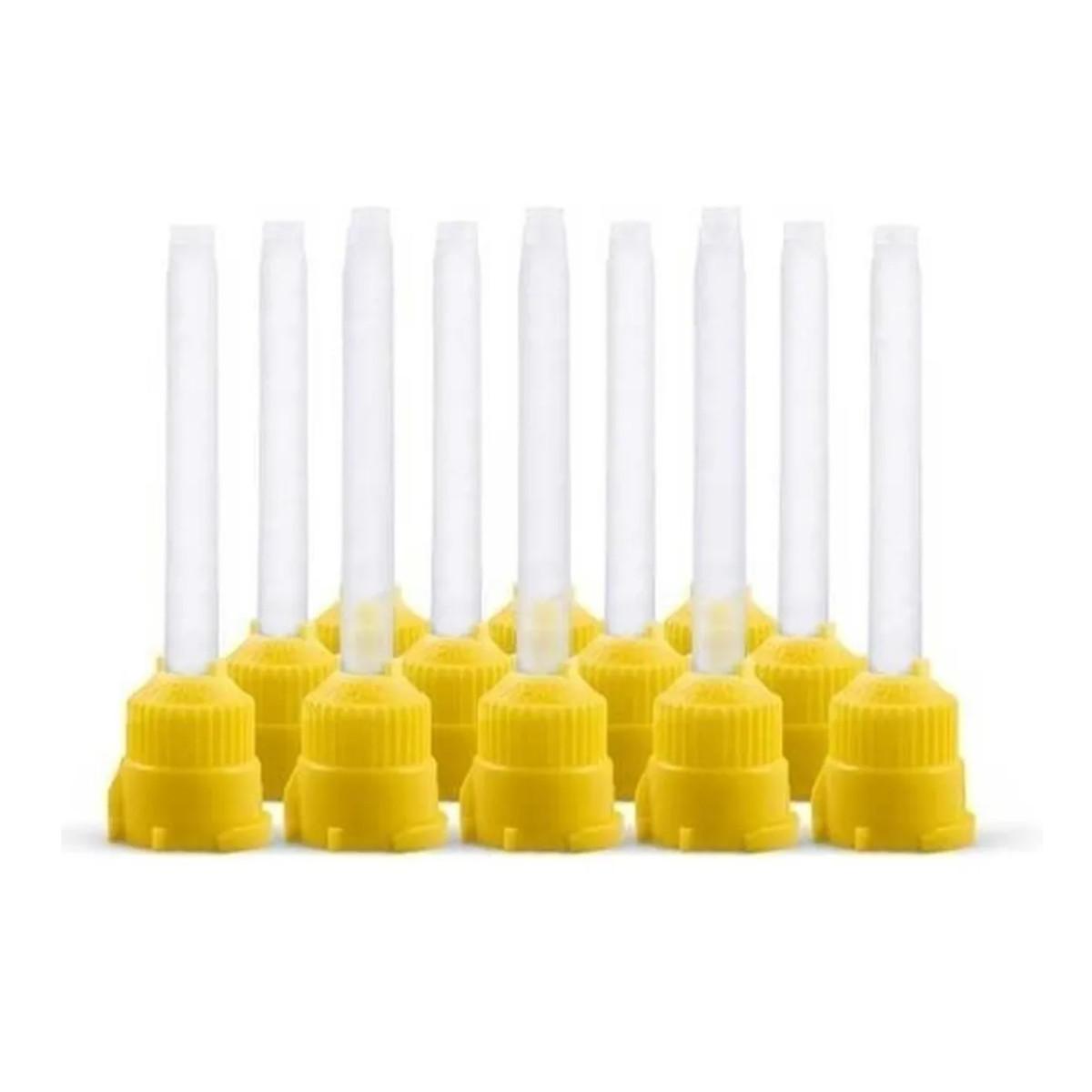 Ponta Silicone Yller Mistura Amarela 12 Un