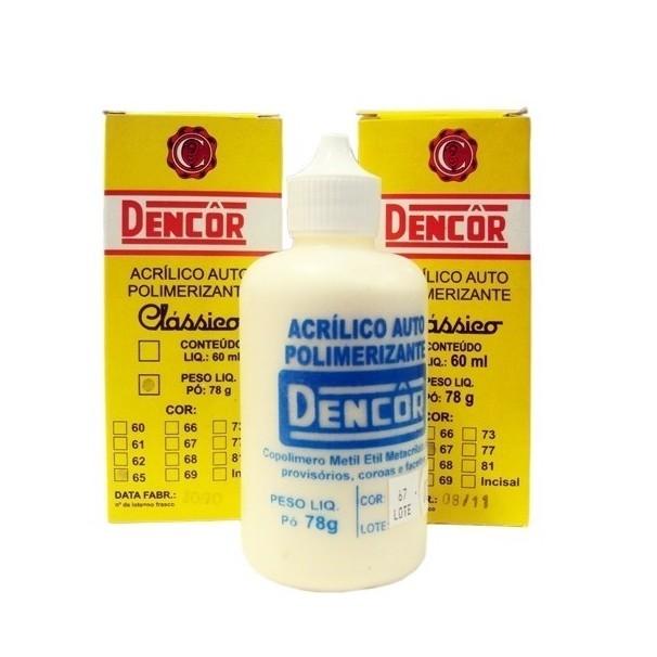 Resina Acrílica Dencor 78g