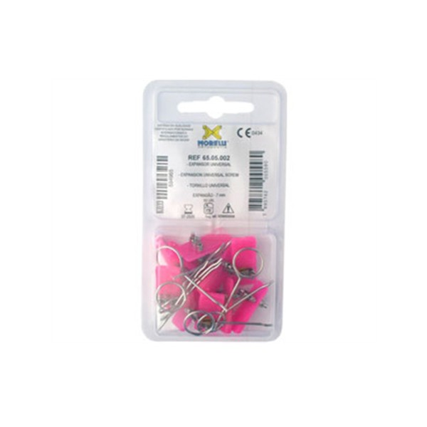 Expansor Morelli Bilateral Universal 7mm Rosa - 10 unid cod 65.05.002