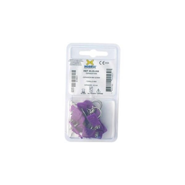 Expansor Morelli Bilateral Mini 6,5mm Roxo - 10 unid cod 65.05.006