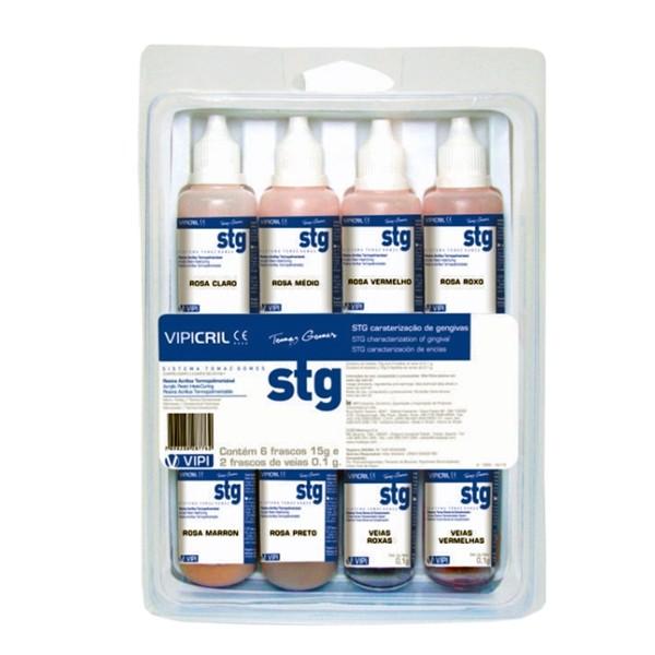 Resina para Caraterização de Gengivas Vipi STG Kit