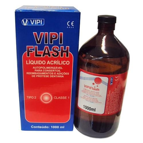 Resina Acrílica Autopolimerizável Vipi Flash 1000ml - resina de rápida
