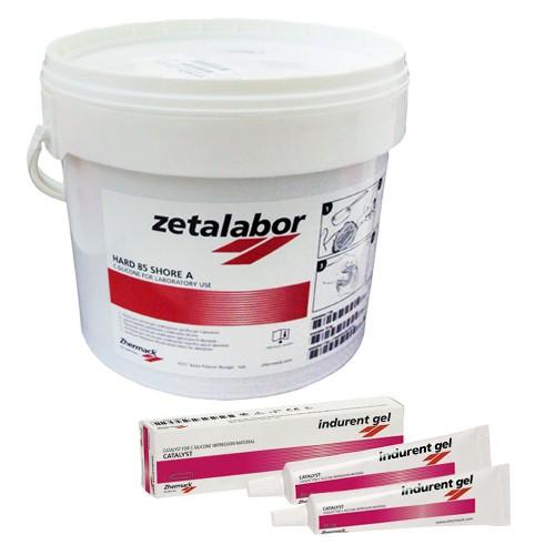 Silicone para Muralha Zetalabor 5Kg - grátis 2 Catalisadores Indurent Gel 60mL