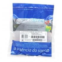 Placa Acetato Cristal Essencedental (VH) 2,0mm Redonda - moldeira para bruxismo - embalagem com 05 unidades