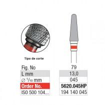 Broca Tungstênio Edenta Corte Cruzado Fino mod 5620.045 HP - REF 1520 tarja vermelha