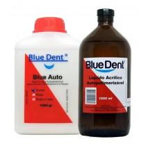 Resina Acrílica Auto Blue Dent Kit 1l + 1kg Incolor