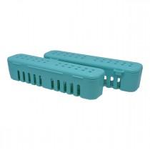 Kit Estojo para Esterilização OGP Pequeno (21x5x5 cm) Azul Tifany - 2UNID