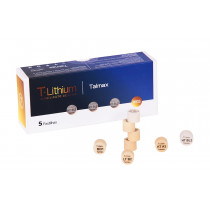 Pastilha T-Lithium Press Dissilicato de Lítio D10 HT-BL1 (Alta Transluc) caixa 5 unidades