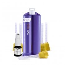 Silicone de Adição Yller Gingimax ESTHETIC + Isolator - 1 cartucho GINGIMAX 50ml + 2 frascos de ISOLATOR + 12 ponteiras automisturadoras amarelas.