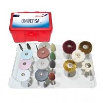 Kit Universal com 20 Peças para Acabamento e Polimento - American Burrs