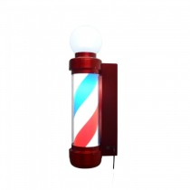 Pole Barber Giratório Led com Globlo Vermelho- Vh