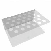 Suporte para Resina com 30 Cavidades - Cristal - Agir